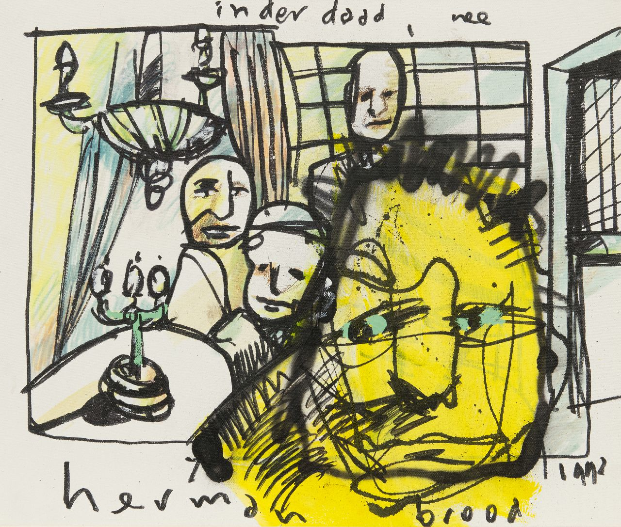 Herman Brood | Inderdaad, nee (Indeed, no), oil on canvas, 50.1 x 60.1 cm, signed l.c. and dated 1992