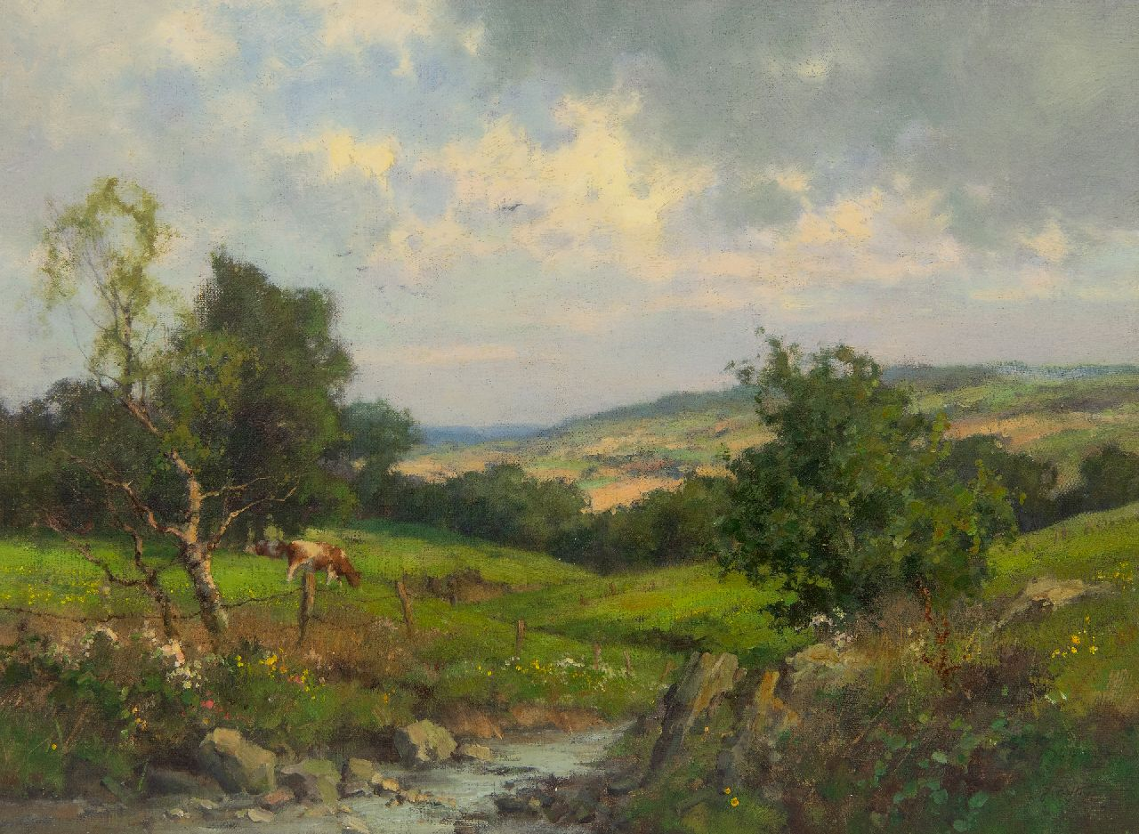 Holtrup J.  | Jan Holtrup, Landscape in South Limburg, oil on canvas 30.5 x 40.7 cm, signed l.r.