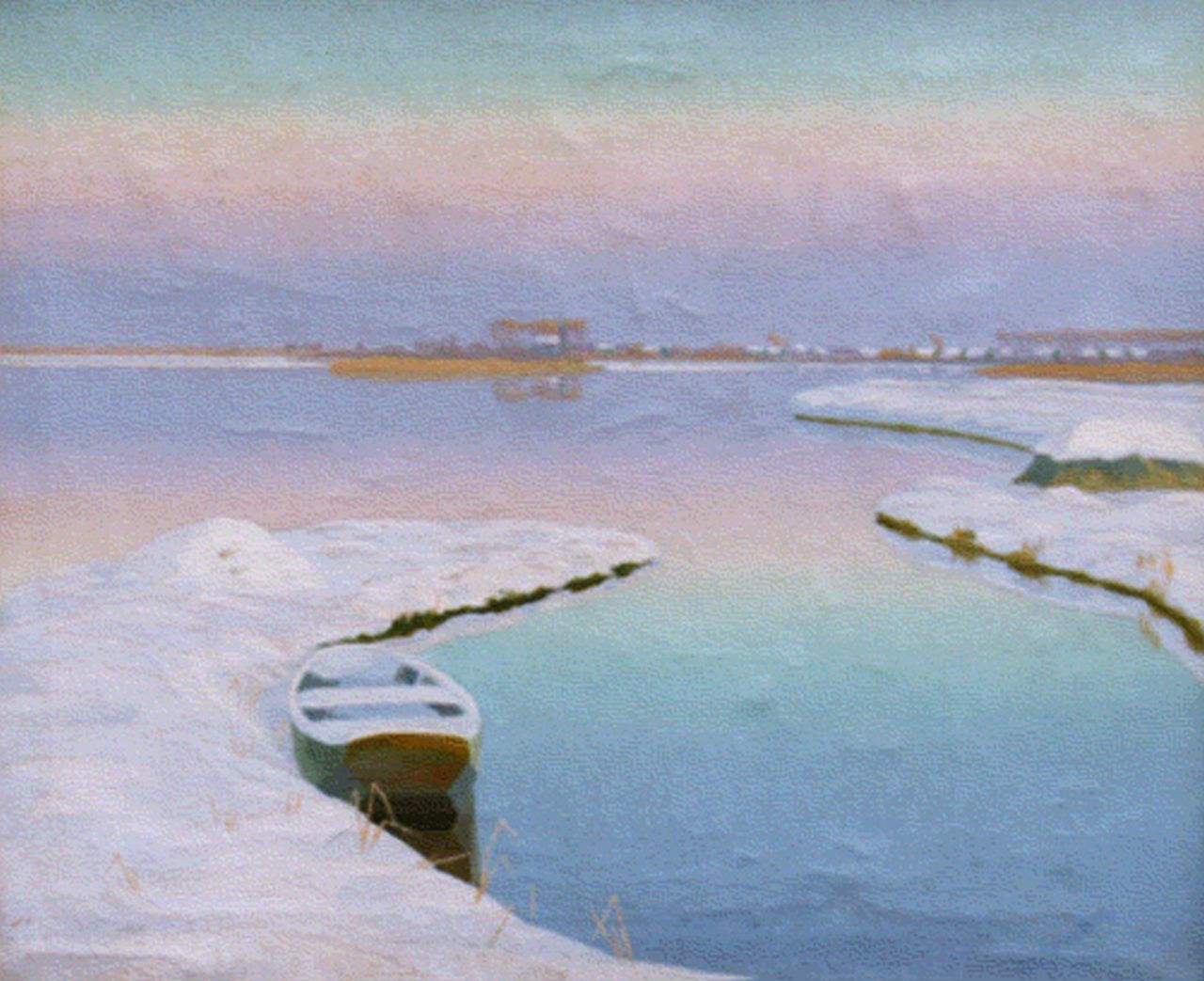 Smorenberg D.  | Dirk Smorenberg, A winter landscape, oil on canvas 50.5 x 60.0 cm, signed l.r.