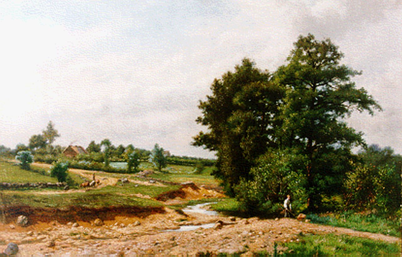 Gérard Crehay | Romantic landscape, oil on canvas, 29.3 x 44.2 cm, signed l.l.