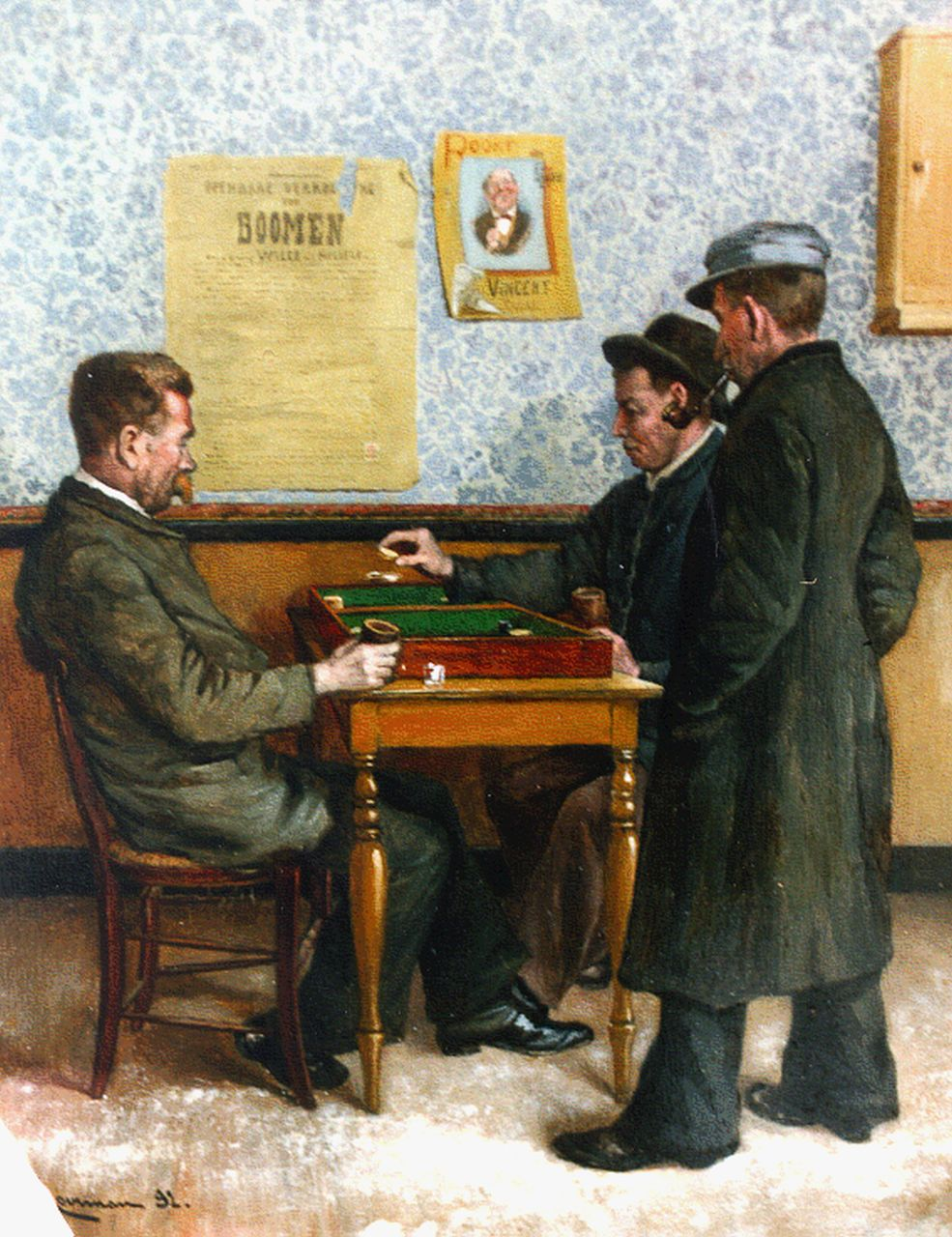 Jan Ludovicus Moerman | The game, oil on panel, 27.0 x 21.3 cm, signed l.l. and dated '92