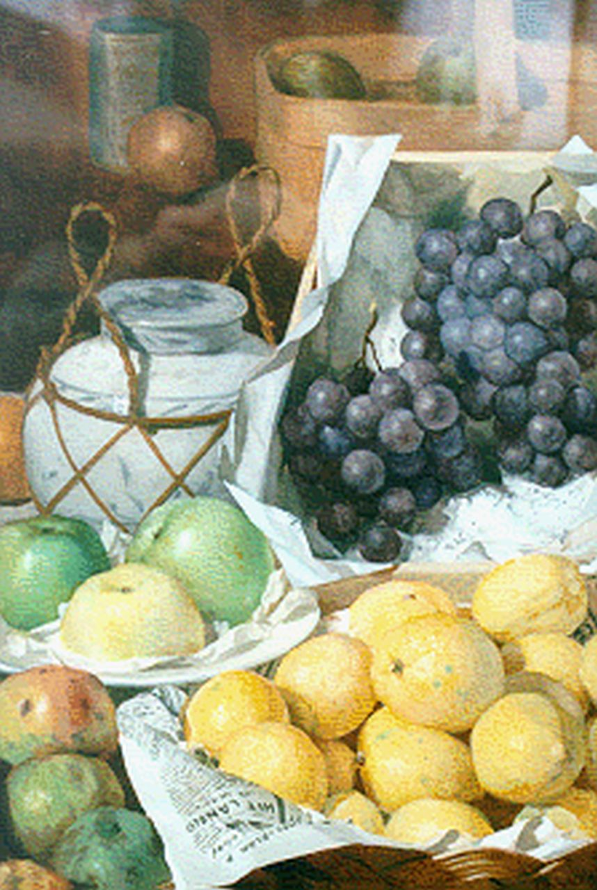 Martinus Johannes Schild | A still life with lemons and grapes, watercolour on paper, 50.9 x 35.2 cm, signed l.r.