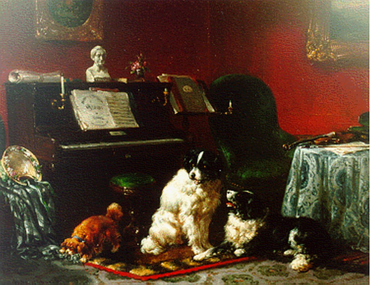 Verschuur W.  | Wouterus Verschuur, Piece of music, oil on panel 19.5 x 24.8 cm, signed l.l.