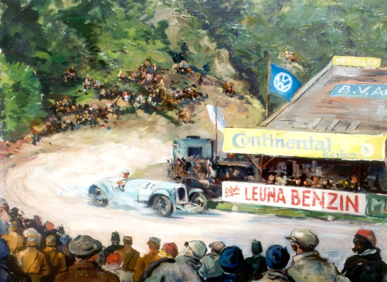 Braunbeck L.W.  | Ludwig Walter Braunbeck, Racing circuit, oil on canvas 62.3 x 78.2 cm, signed l.r. and painted circa 1940