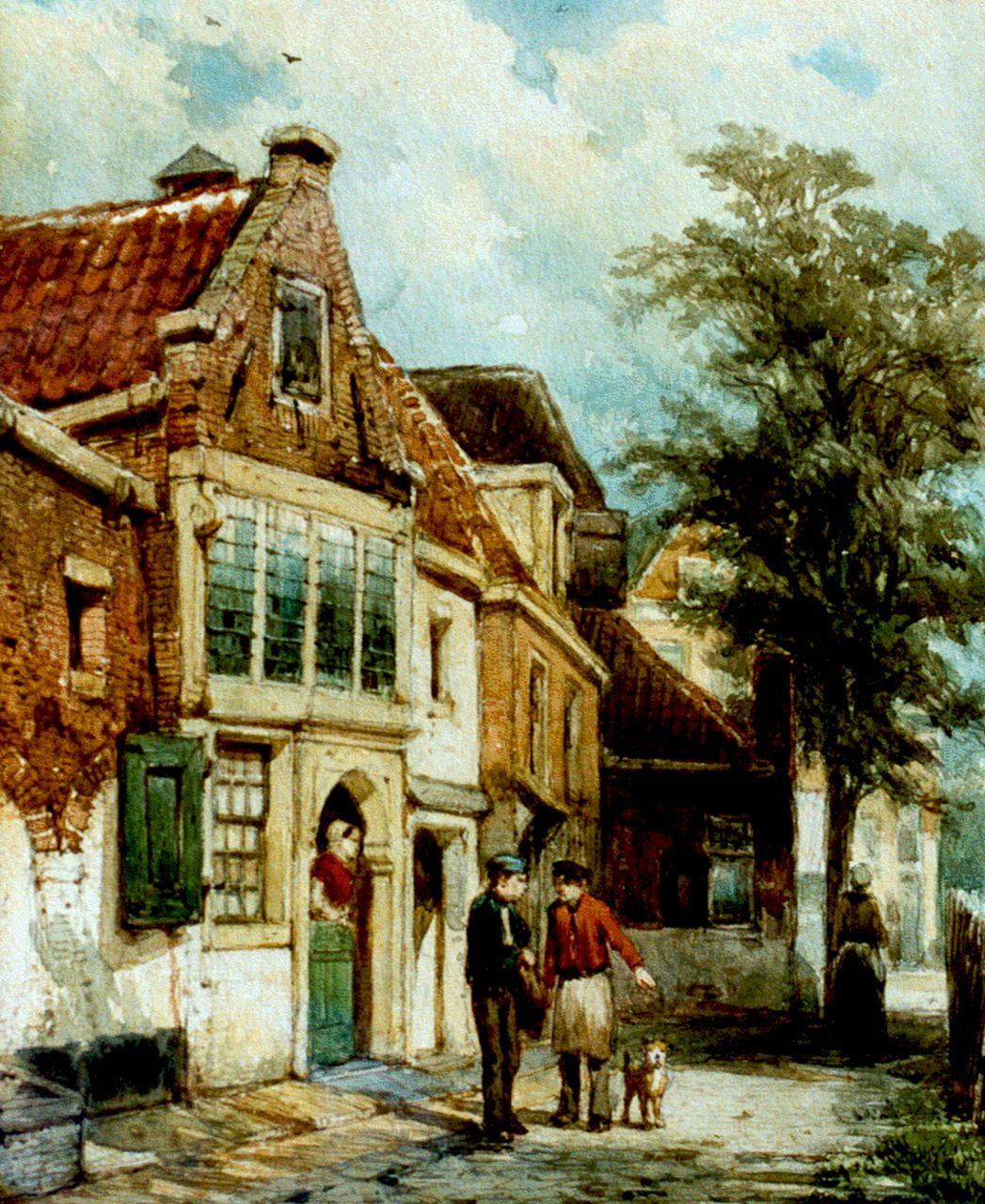 Springer C.  | Cornelis Springer, A view of Hoorn, watercolour on paper 25.1 x 20.6 cm, signed l.l. and dated Dec. '77