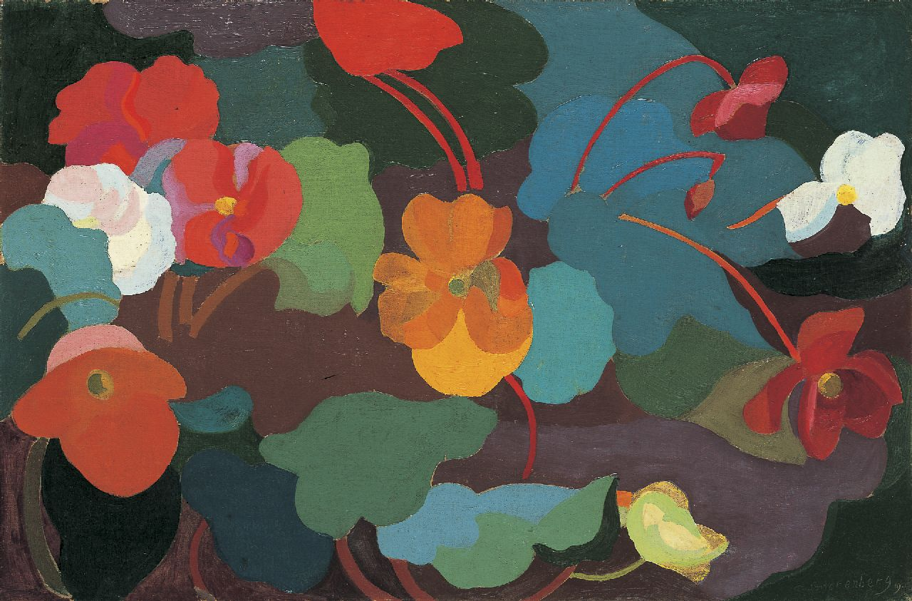 Smorenberg D.  | Dirk Smorenberg, Begonias, oil on canvas 42.5 x 64.2 cm, signed l.r. and dated '19