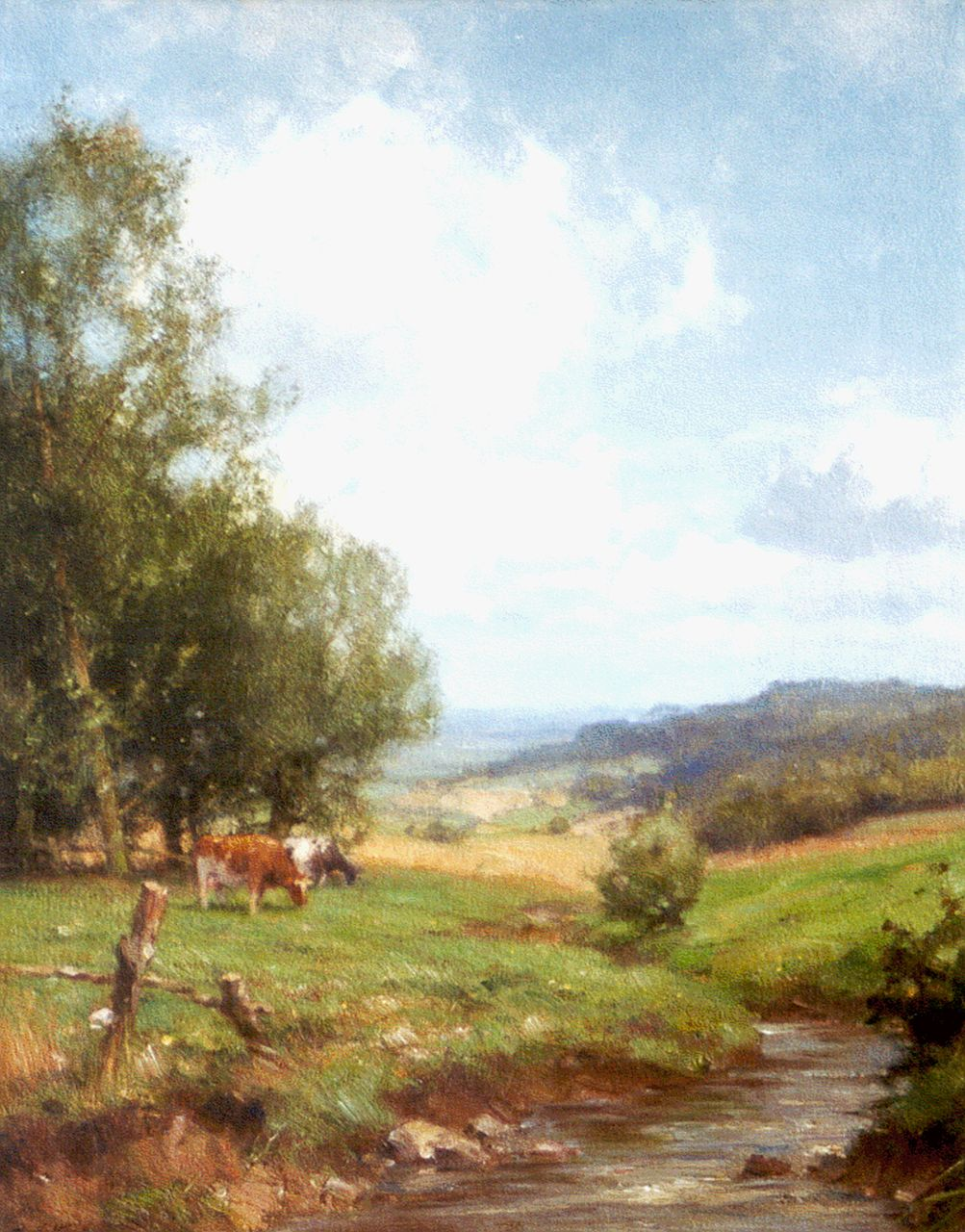 Holtrup J.  | Jan Holtrup, A panoramic view, Epen Zuid-Limburg, oil on canvas 49.8 x 39.8 cm, signed l.l.