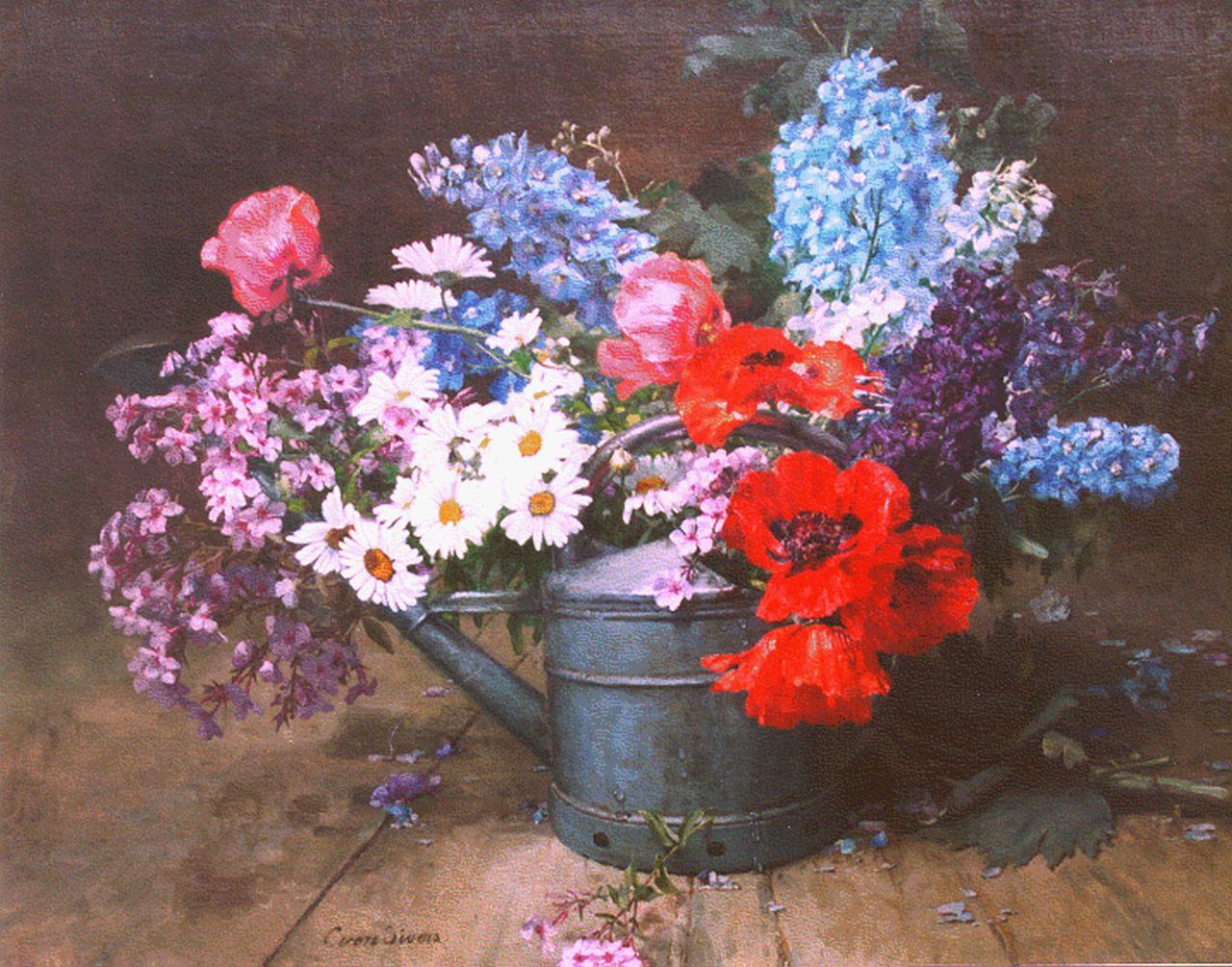 Clara von Sivers-Krüger | A bunch of wildflowers, oil on canvas, 78.5 x 99.0 cm, signed l.l.