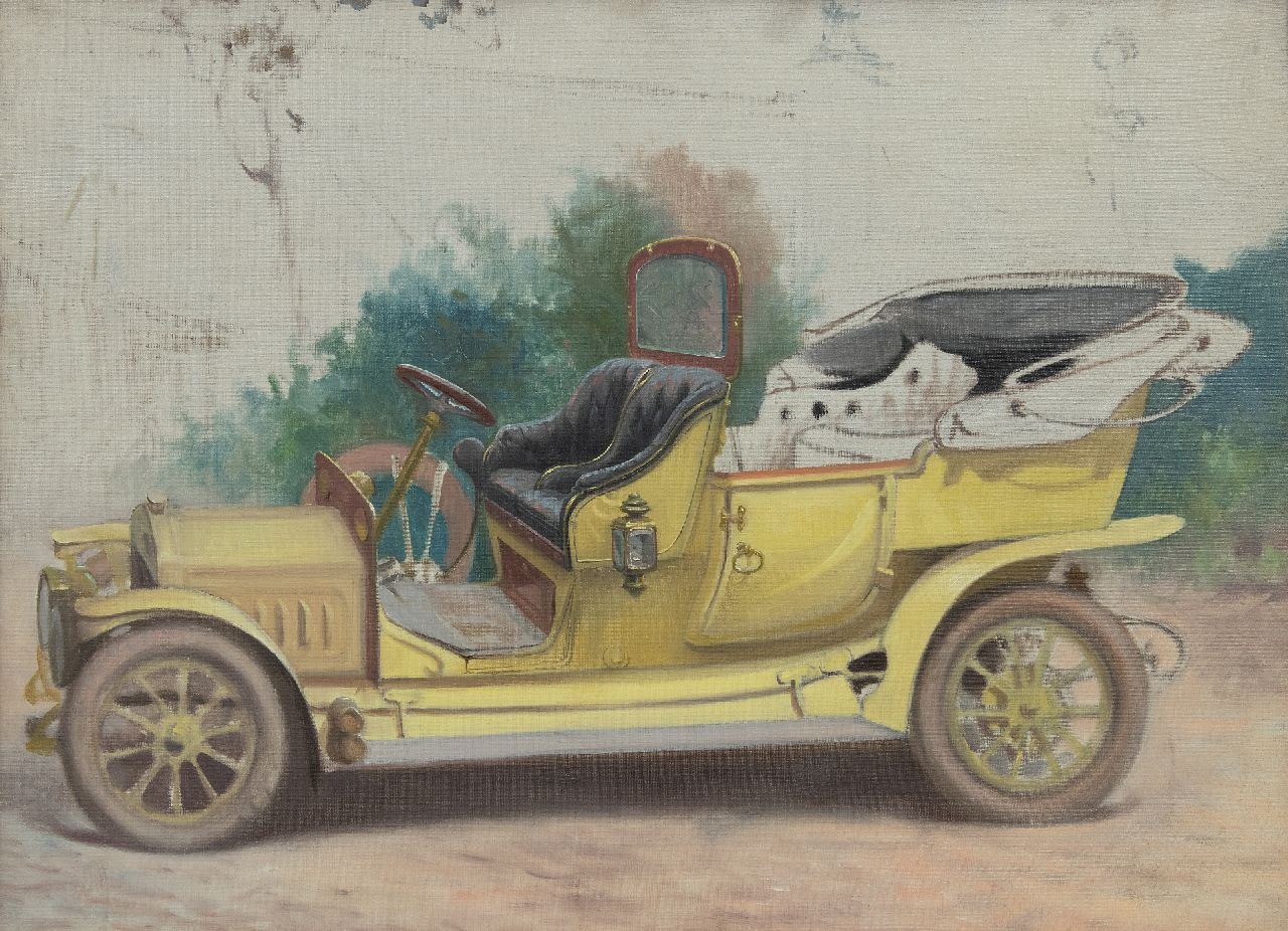 Onbekend   | Onbekend | Paintings offered for sale | Antique car, oil on canvas 48.1 x 66.0 cm