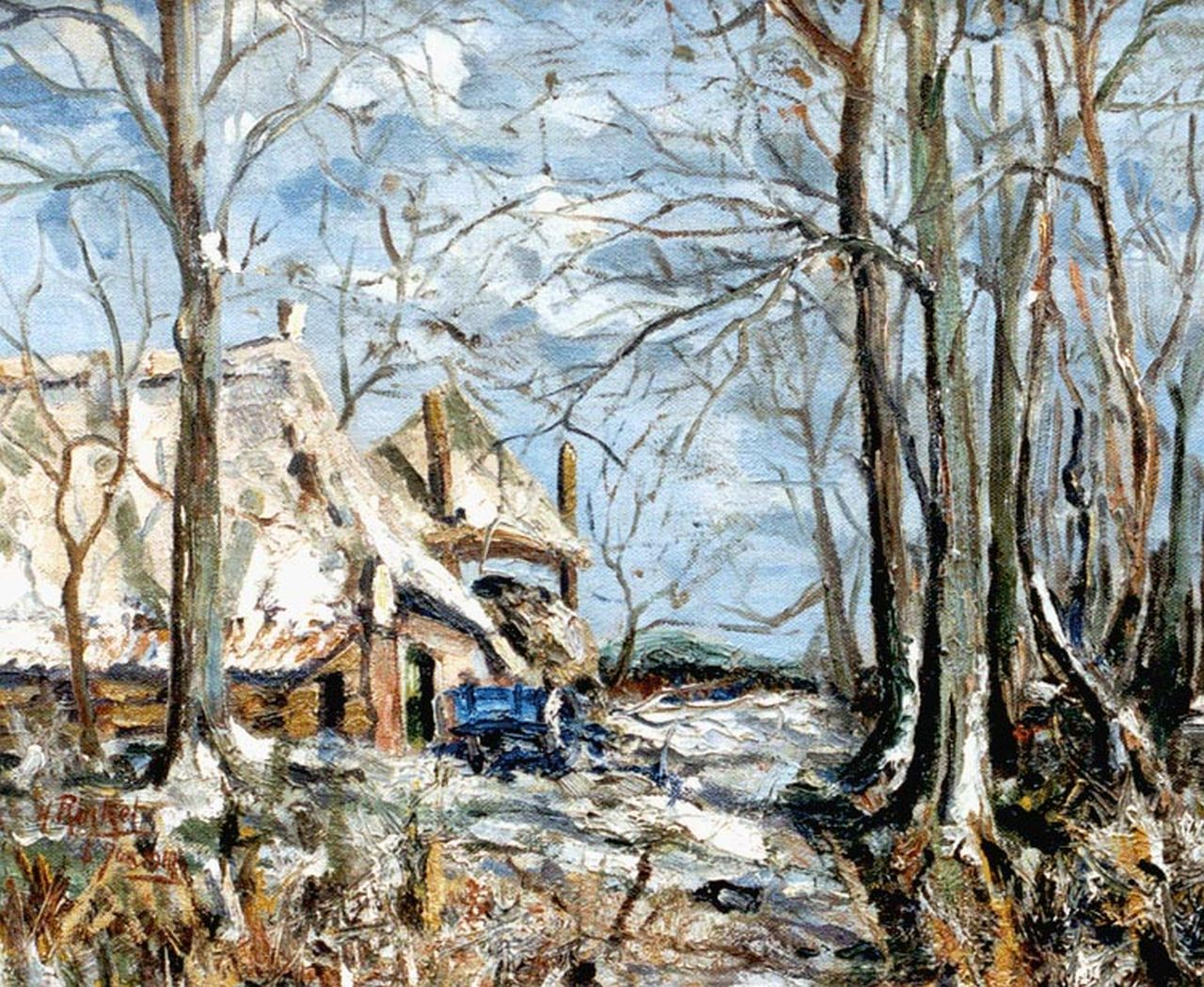 Herman Rinket | A farm in winter, oil on canvas, 50.3 x 60.2 cm, signed l.o. and dated Jan. 6th 1947