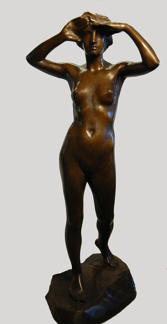 Dirk Wolbers | Female nude, bronze, 41.0 cm, signed in the base and made in '26