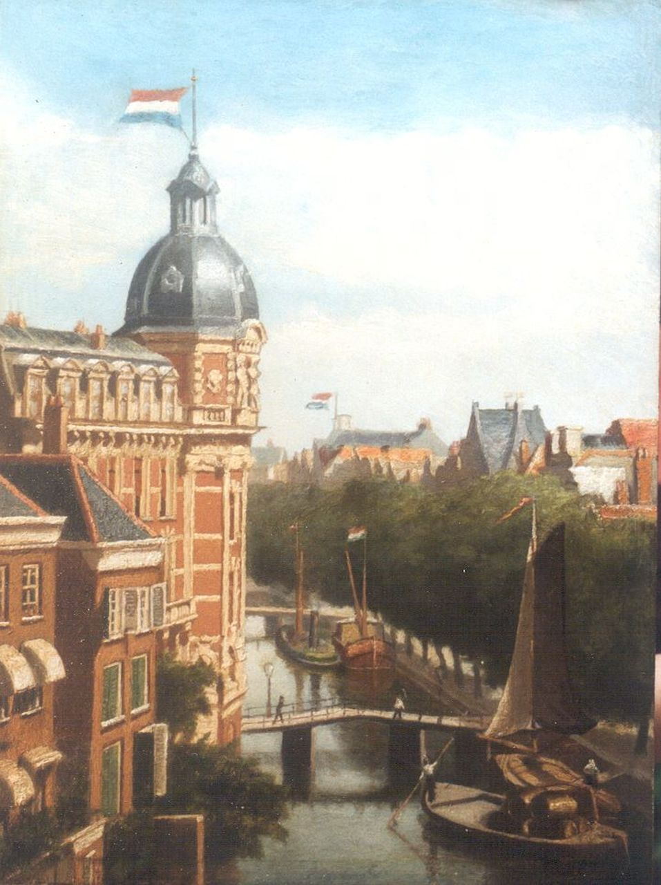 Maurits Monnickendam | The Doelen Hotel, Amsterdam, oil on panel, 36.0 x 26.8 cm, signed l.r. and dated 1890