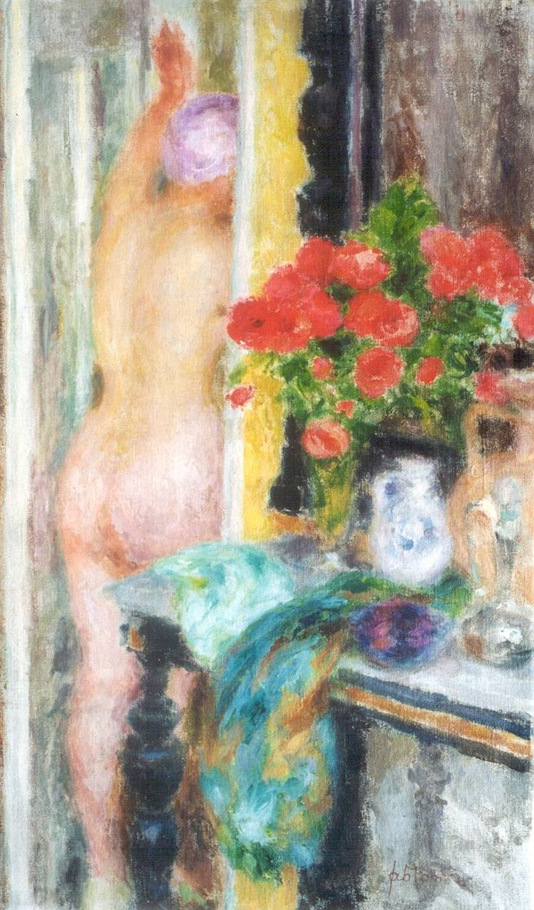 Jablonski | A female nude in an interior, oil on canvas, 79.1 x 48.5 cm, signed l.r.