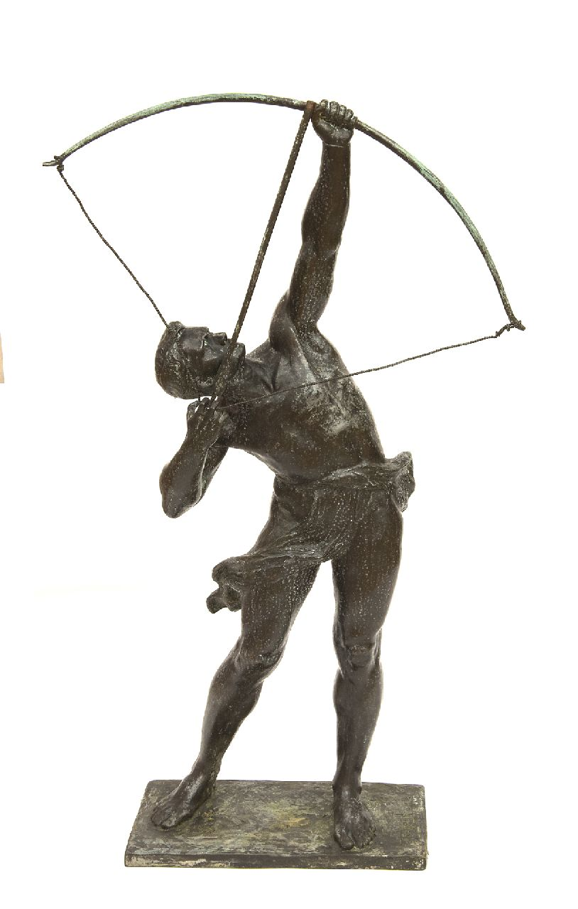Frans Jochems | The archer, bronze, 67.0 x 10.0 cm, signed on the bronze base