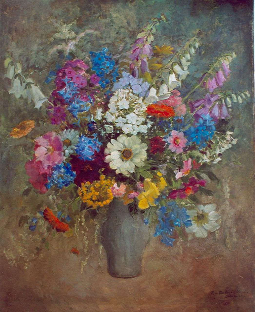 Rie de Balbian Verster-Bolderhey | Field flowers in a vase, oil on canvas, 99.5 x 79.5 cm, signed l.r.
