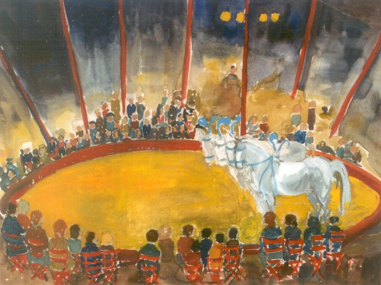 Annemari Eilers | Circus act, watercolour on paper, 51.0 x 67.5 cm, signed l.r.