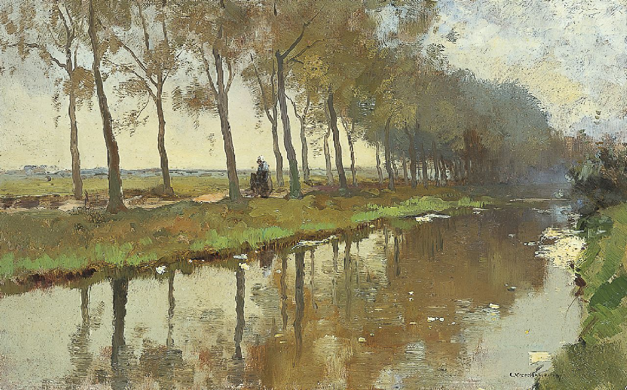 Vreedenburgh C.  | Cornelis Vreedenburgh, A canal, oil on canvas 38.4 x 61.3 cm, signed l.r. and dated '07