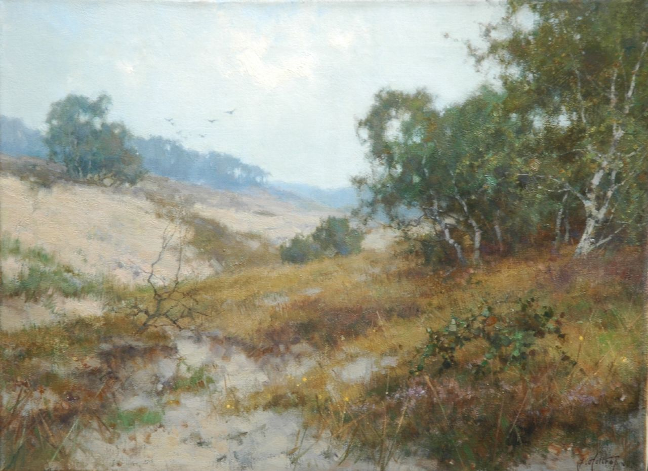 Holtrup J.  | Jan Holtrup, A view of the 'Mosselse Zand', oil on canvas 30.1 x 40.3 cm, signed l.r.