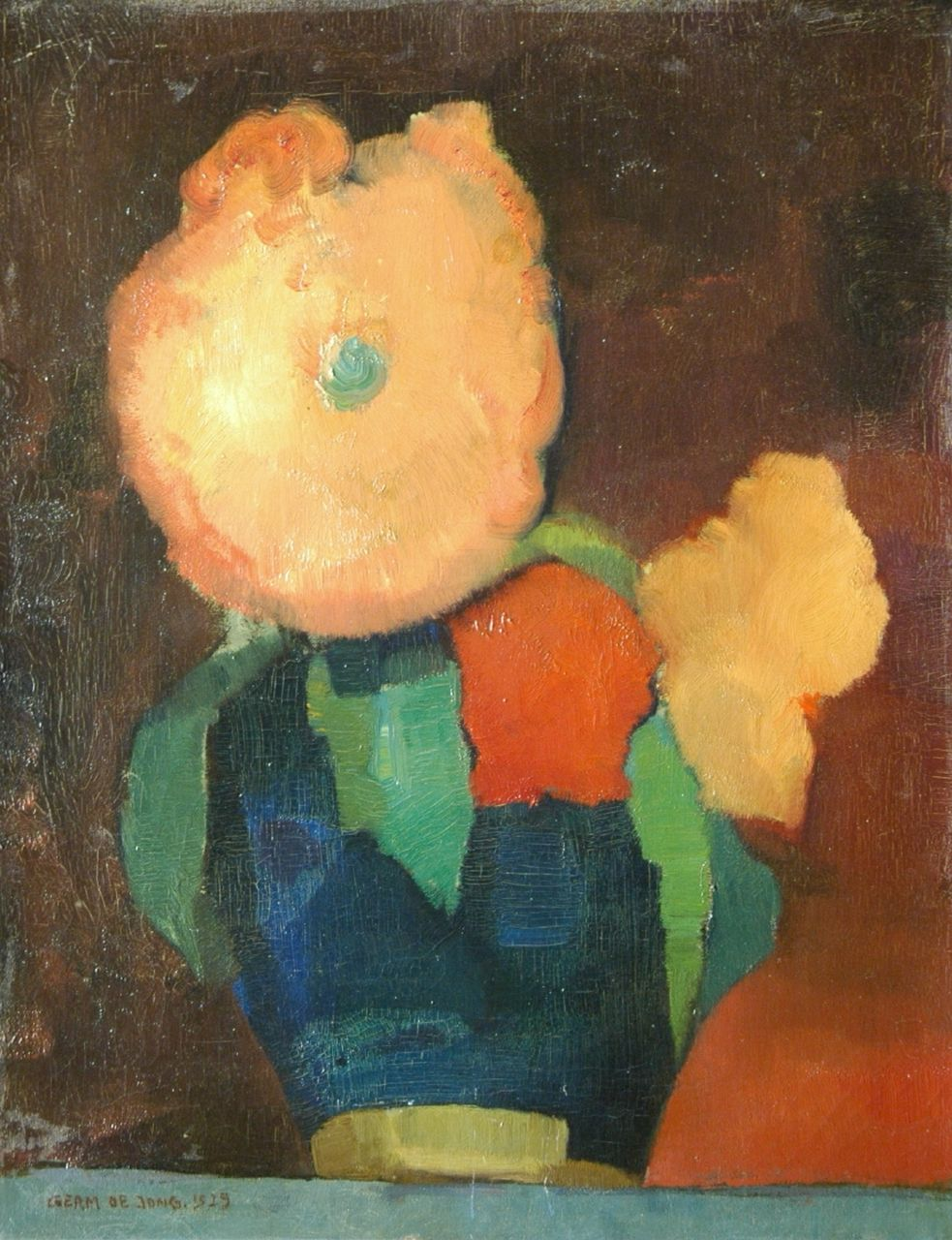 Jong G. de | Gerben 'Germ' de Jong, Flowers in a ginger jar, oil on canvas 45.2 x 35.3 cm, signed l.l. and dated 1929