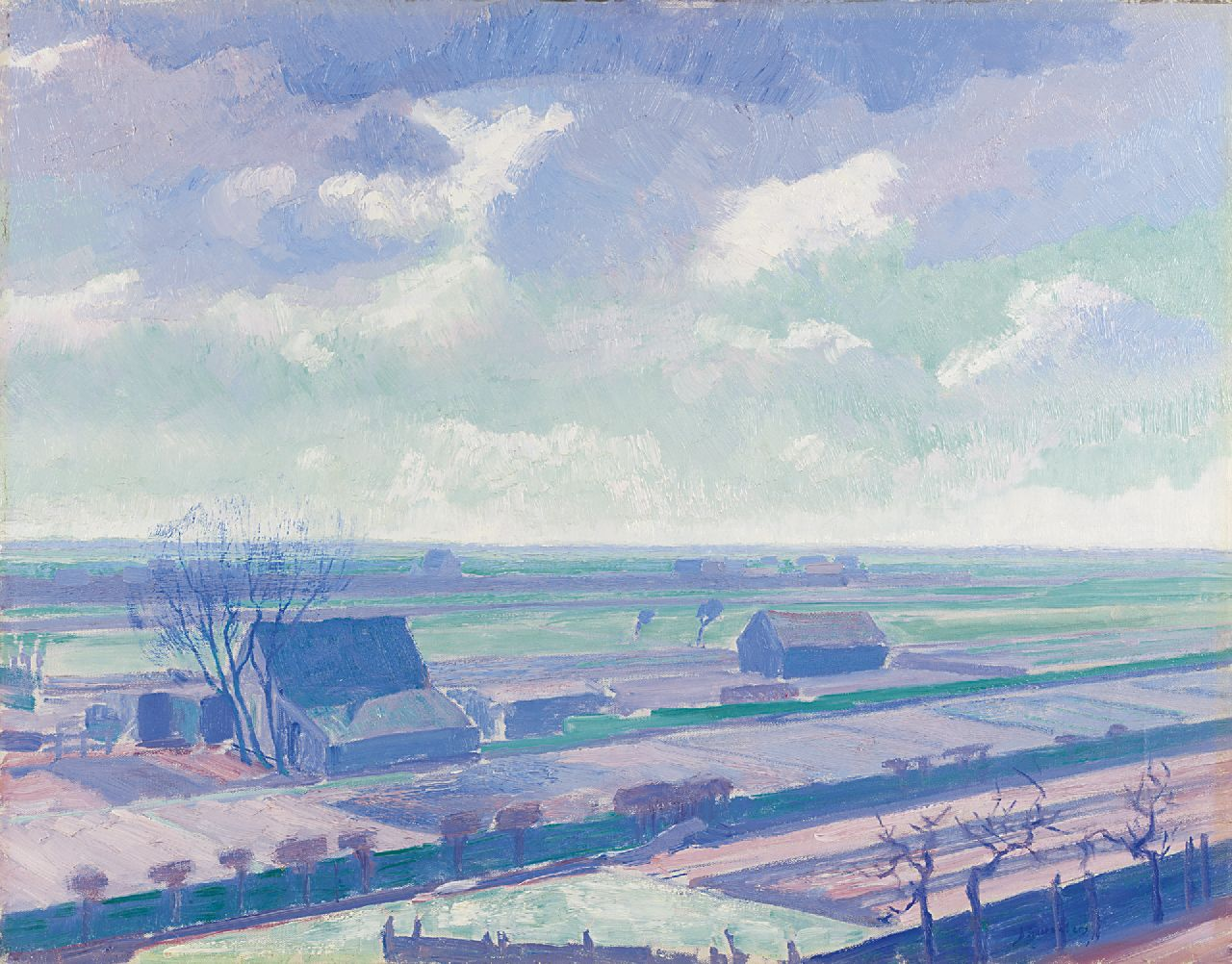 Smorenberg D.  | Dirk Smorenberg, Farms near Loosdrecht, oil on canvas 54.3 x 69.3 cm, signed l.r. and dated '14