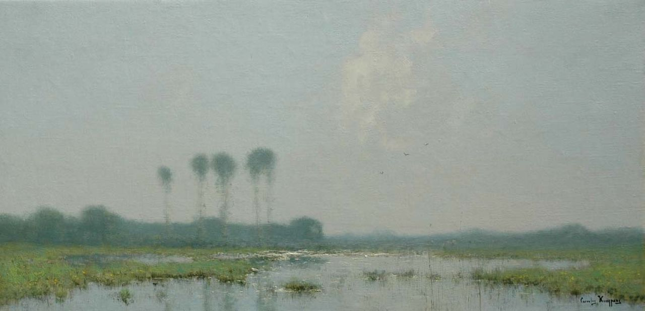 Kuijpers C.  | Cornelis Kuijpers, Forelands, oil on canvas 41.5 x 84.5 cm, signed l.r.