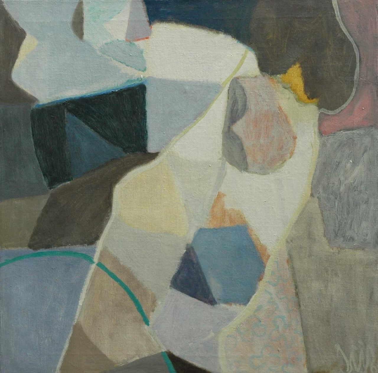 Gijsbers J.H.S.  | Jan Hendrik Steven 'Gijs' Gijsbers, Composition X '68, oil on canvas 62.0 x 62.0 cm, signed l.r. and dated ('68) ?