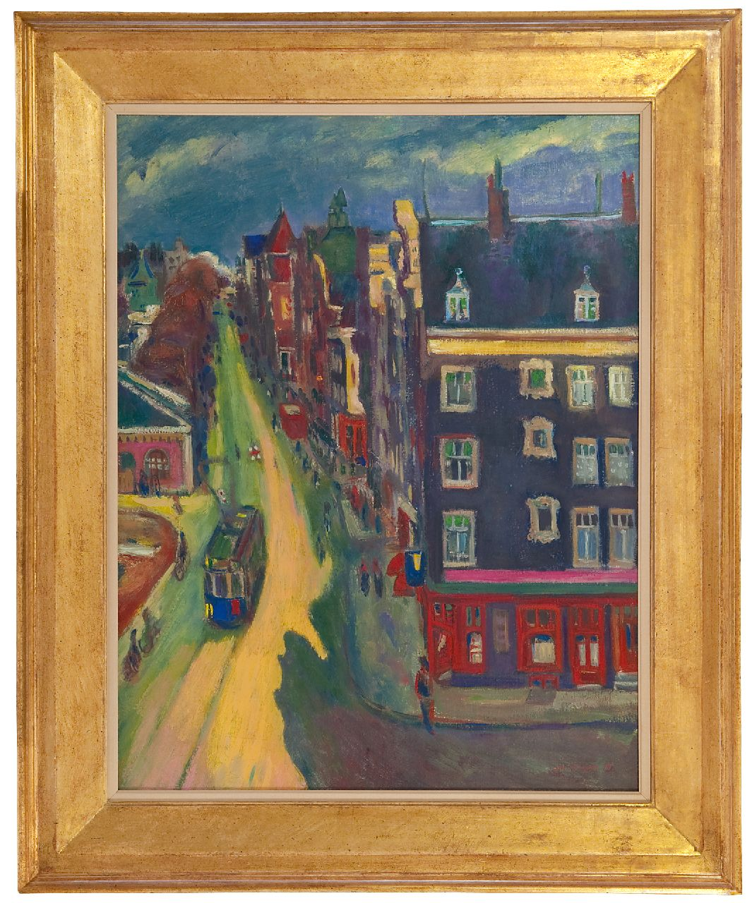 Wiegers J.  | Jan Wiegers | Paintings offered for sale | The Gelderse kade, Amsterdam, oil on canvas 70.2 x 54.7 cm, signed l.r. and dated '35