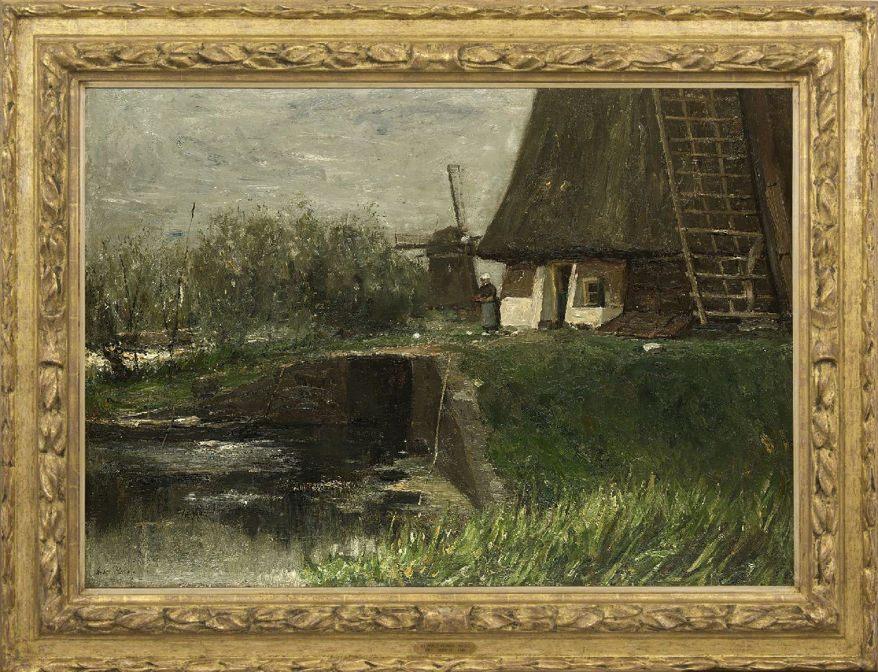 Roelofs O.W.A.  | Otto Willem Albertus 'Albert' Roelofs | Paintings offered for sale | Windmills, oil on canvas 70.8 x 100.5 cm, signed l.l. and painted ca. 1899