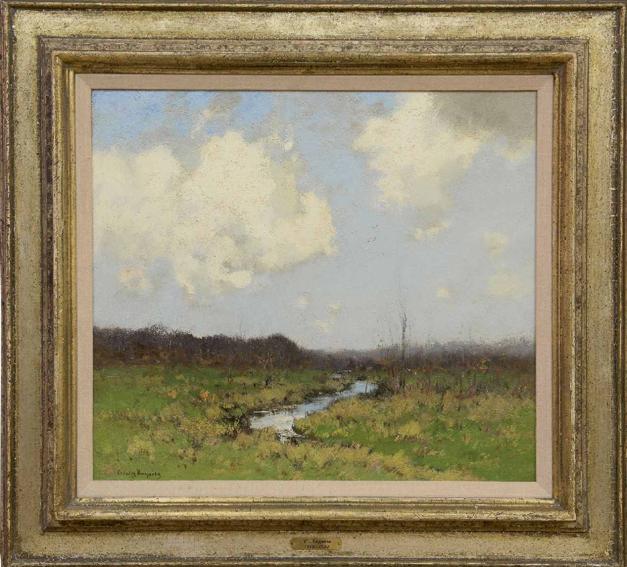Kuijpers C.  | Cornelis Kuijpers | Paintings offered for sale | A pasture in summer, oil on canvas 40.0 x 44.8 cm, signed l.l.