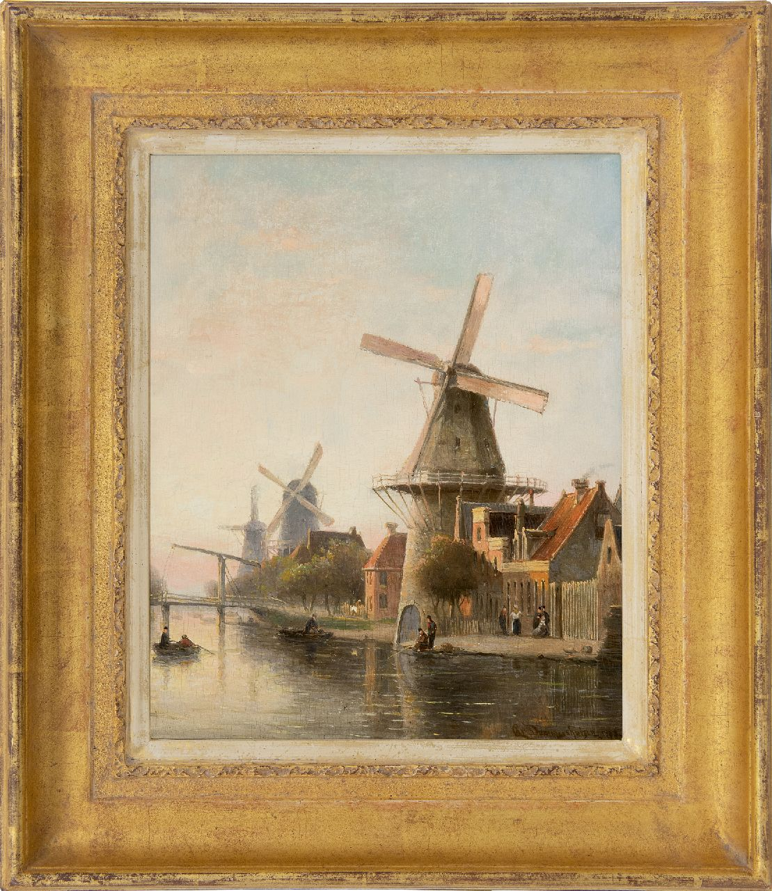 Dommelshuizen C.C.  | Cornelis Christiaan Dommelshuizen, Windmill 'De Rosenboom' near the Overtoom, Amsterdam, oil on panel 28.4 x 23.0 cm, signed l.r. and indistinctly dated 189[?]8