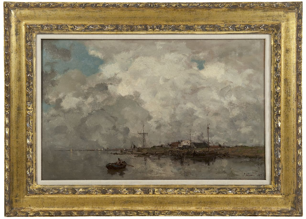 Maris J.H.  | Jacobus Hendricus 'Jacob' Maris, Wolk effekt, oil on canvas 38.2 x 60.1 cm, signed l.r. and dated 1877