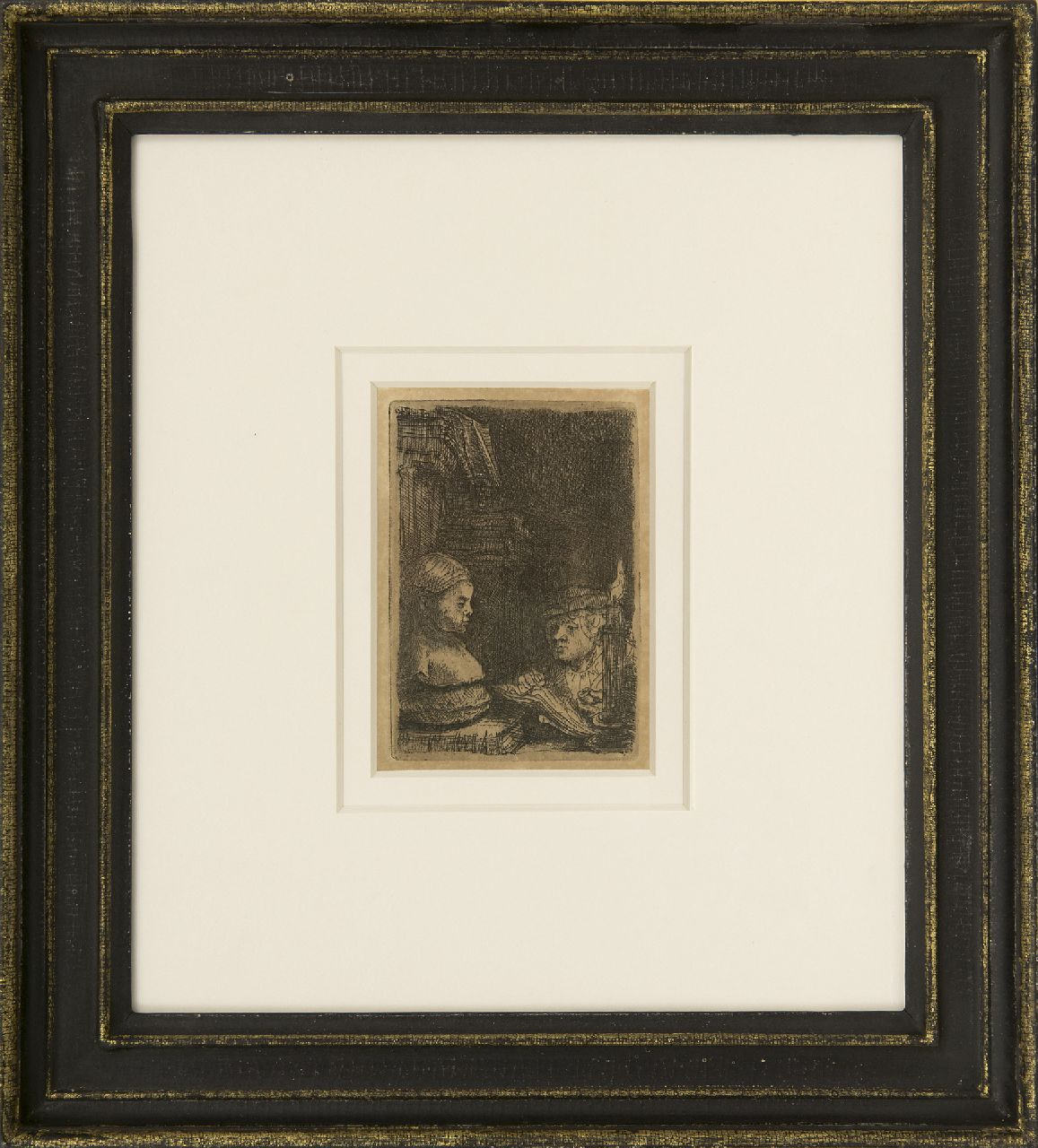 Rembrandt (Rembrandt Harmensz. van Rijn)   | Rembrandt (Rembrandt Harmensz. van Rijn) | Prints and Multiples offered for sale | A man making a drawing after a plaster model, etching on paper 9.3 x 6.3 cm
