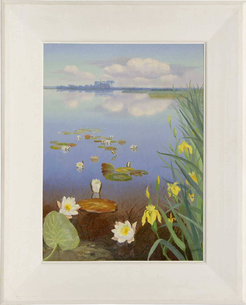 Smorenberg D.  | Dirk Smorenberg | Paintings offered for sale | A view of a lake with water lilies, oil on canvas 60.1 x 45.0 cm, signed l.r. and painted ca. 1930