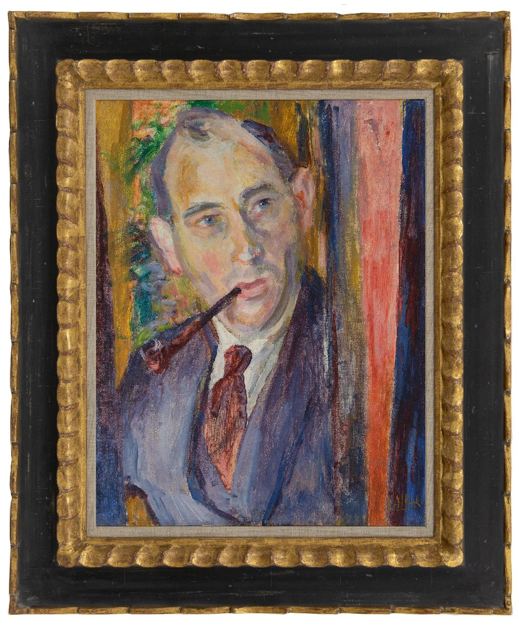 Altink J.  | Jan Altink | Paintings offered for sale | Self portrait, oil on canvas 54.4 x 42.1 cm, signed l.r. and painted circa 1925