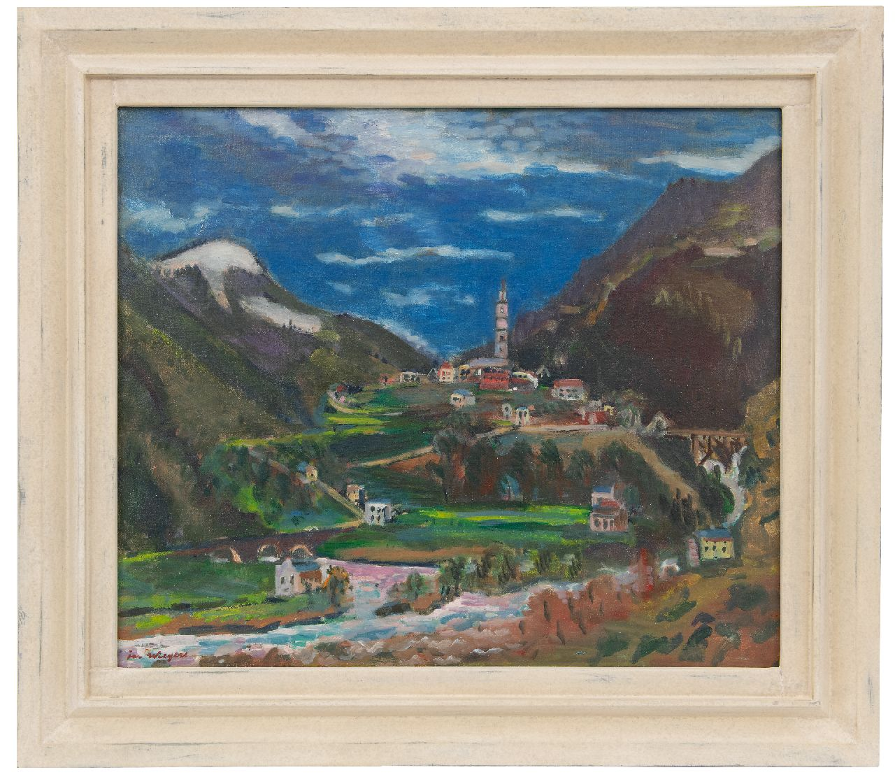 Wiegers J.  | Jan Wiegers | Paintings offered for sale | A view of Tegna, Ticino, Switzerland, oil on canvas 61.5 x 73.4 cm, signed l.l. and painted ca. 1949