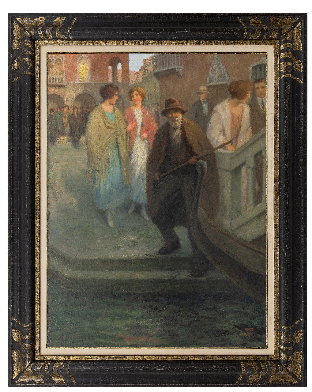 Heijligers H.  | Hendrik 'Henri' Heijligers | Paintings offered for sale | In Venice, oil on canvas 100.3 x 75.4 cm, signed l.l.