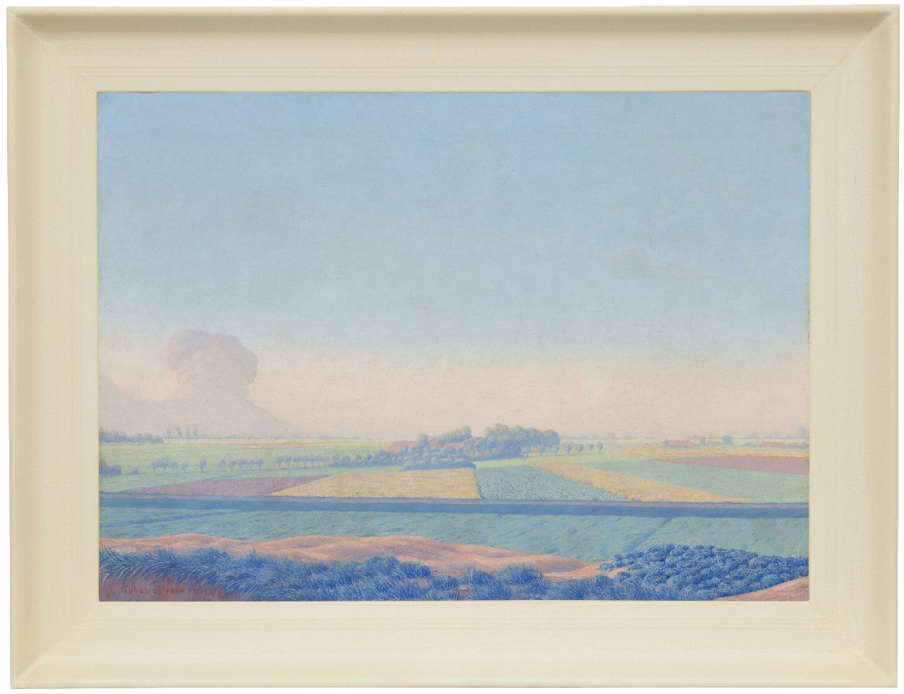 Birnie J.  | Johan Birnie | Paintings offered for sale | Bulb fields, oil on canvas 50.5 x 70.5 cm, signed l.l. and dated 1921