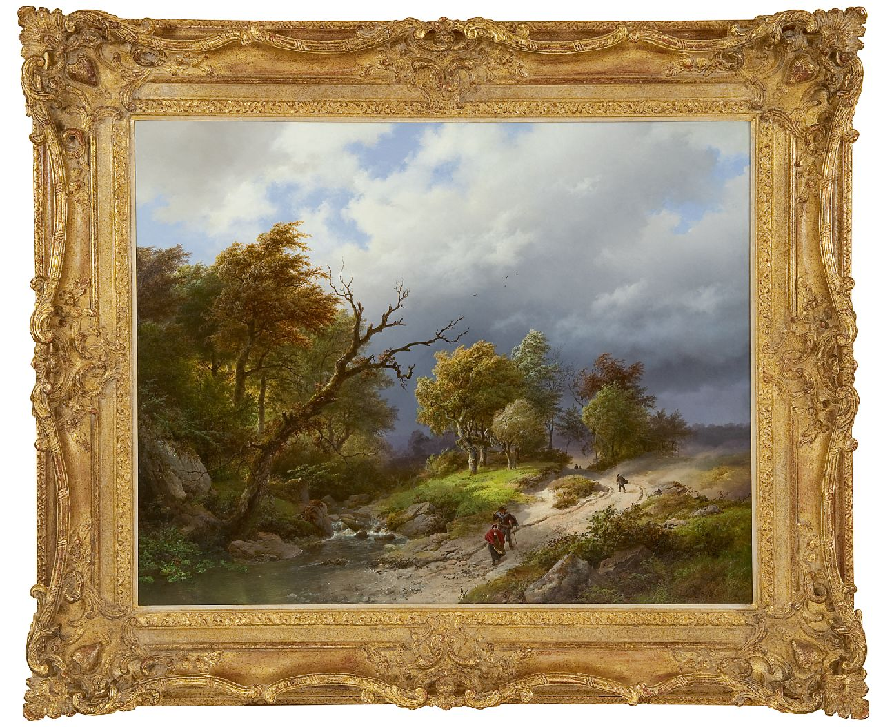 Koekkoek B.C.  | Barend Cornelis Koekkoek | Paintings offered for sale | Upcoming storm, oil on panel 65.5 x 83.7 cm, signed l.r. and dated 1843
