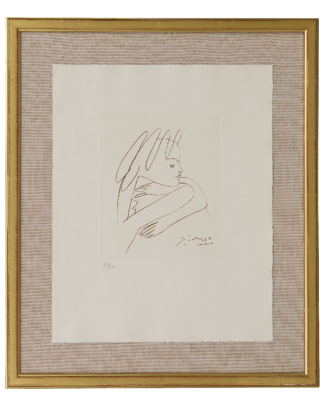 Picasso (Pablo Ruiz y Picasso) P.  | Pablo Picasso (Pablo Ruiz y Picasso) | Prints and Multiples offered for sale | Les cavaliers d'ombre (illustration of  'Les cavaliers d'ombre), etching on paper 22.0 x 17.5 cm, signed l.r. in the plate