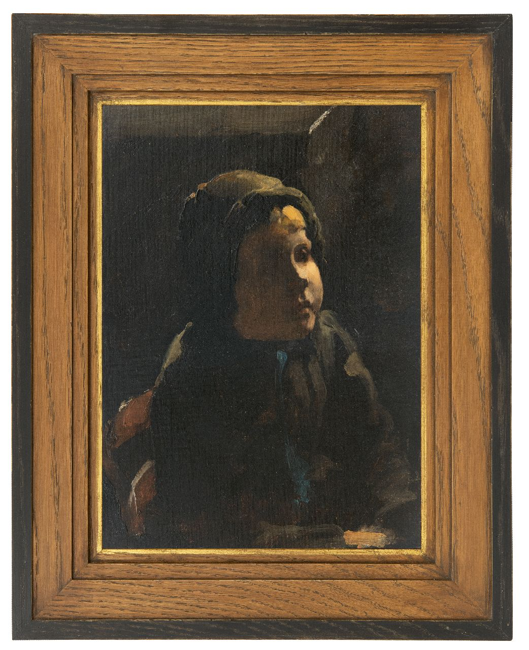 Witsen W.A.  | 'Willem' Arnold Witsen | Paintings offered for sale | A peasant girl, oil on painter's board 35.5 x 25.3 cm, pained ca. 1885