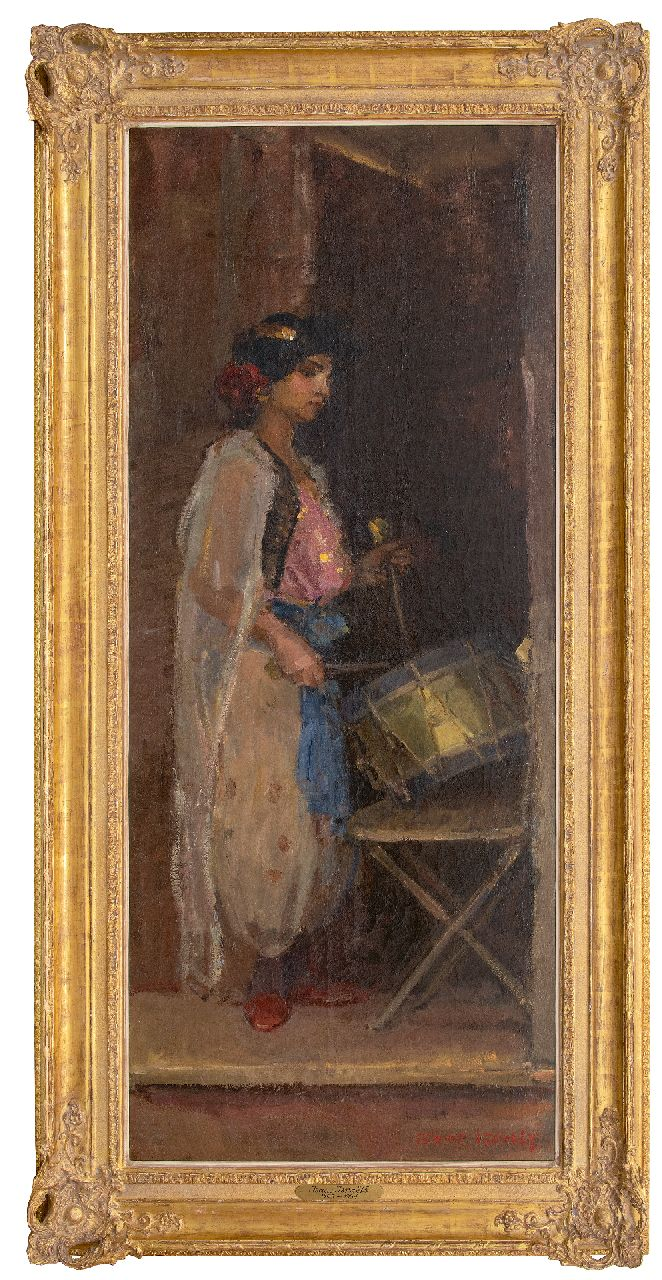 Israels I.L.  | 'Isaac' Lazarus Israels, The Drummer, oil on canvas 181.0 x 75.0 cm, signed l.r. and painted ca. 1909