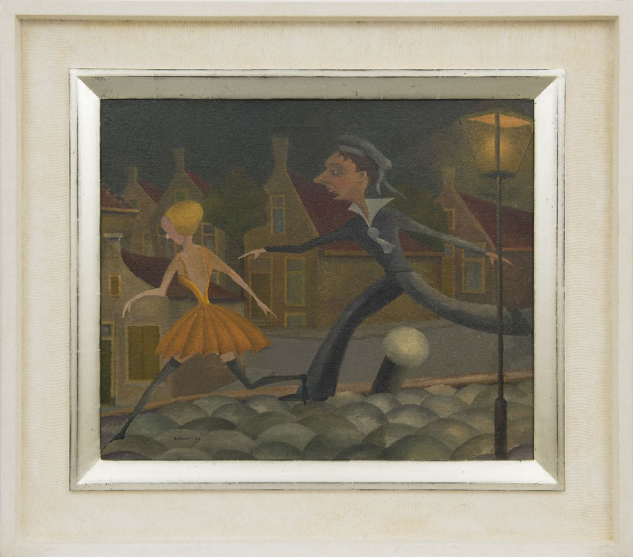 Pape A.J.  | Antonius Josephus 'Ton' Pape | Paintings offered for sale | The amorous sailor, oil on canvas 50.3 x 60.6 cm, signed l.l. and dated '45