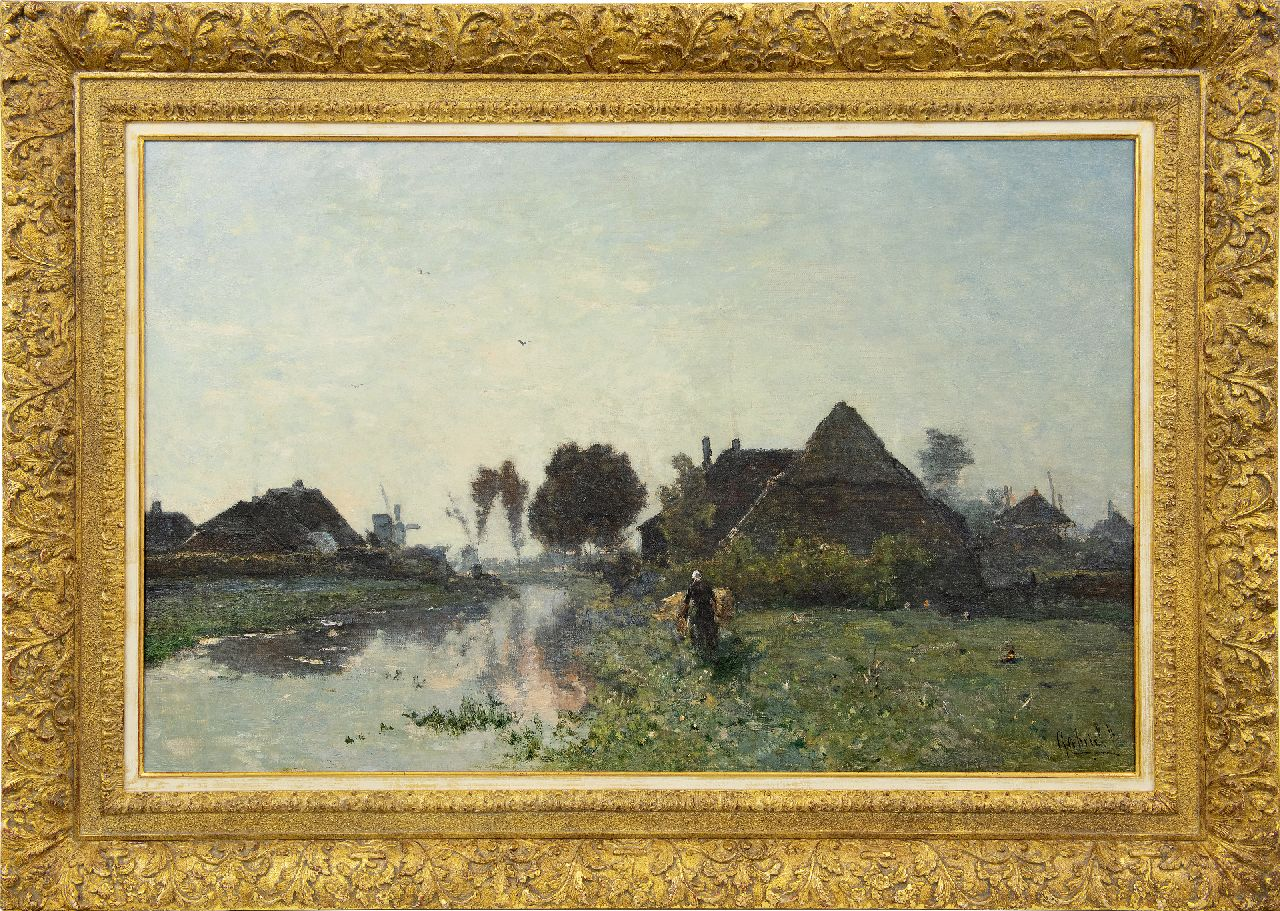 Gabriel P.J.C.  | Paul Joseph Constantin 'Constan(t)' Gabriel | Paintings offered for sale | Early morning near Veenendaal, oil on canvas 66.0 x 101.5 cm, signed l.r. and painted late 60