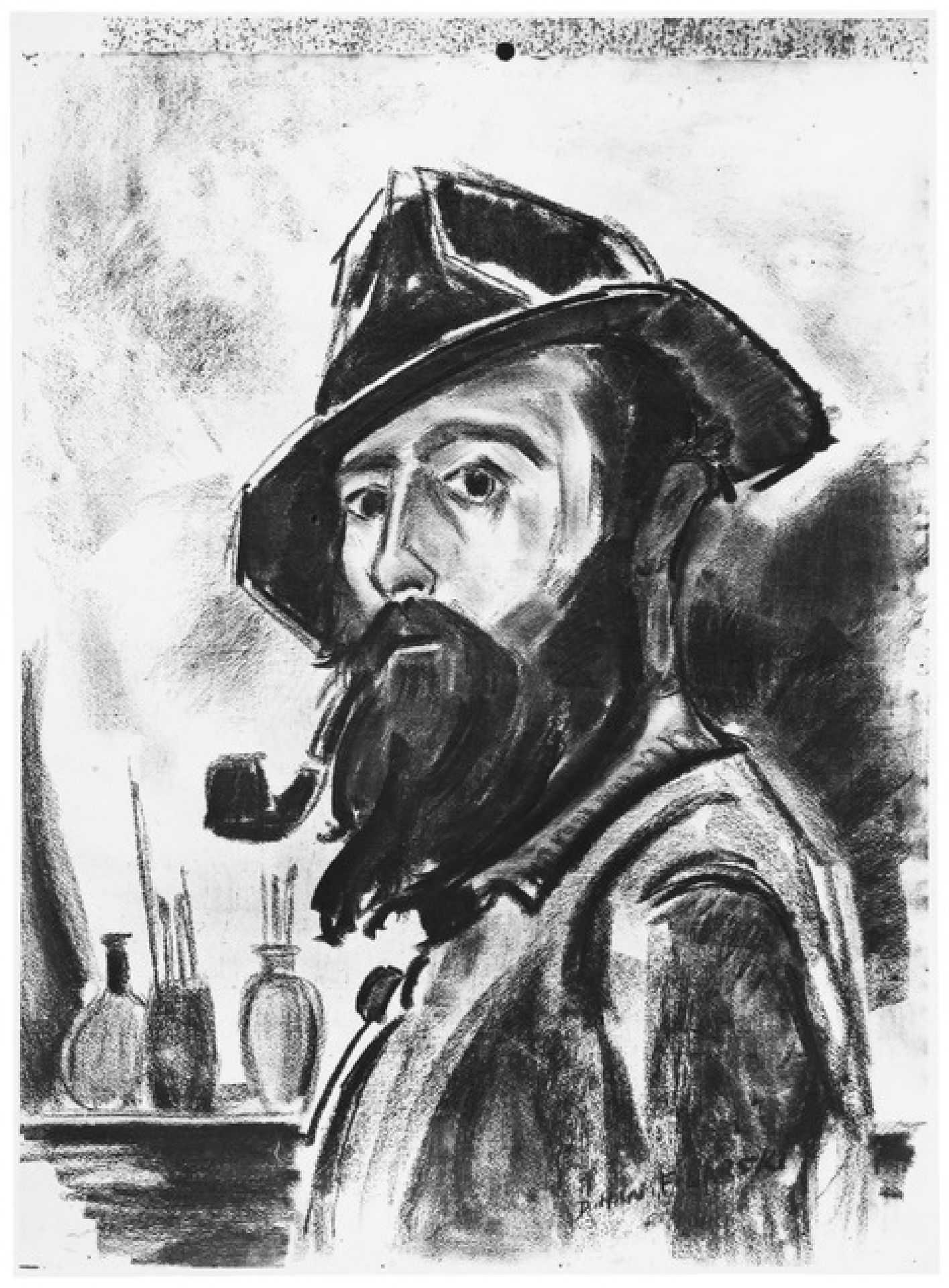 Portrait of artist, painter, watercolourist and draughtsman 'Dirk' Herman Willem Filarski