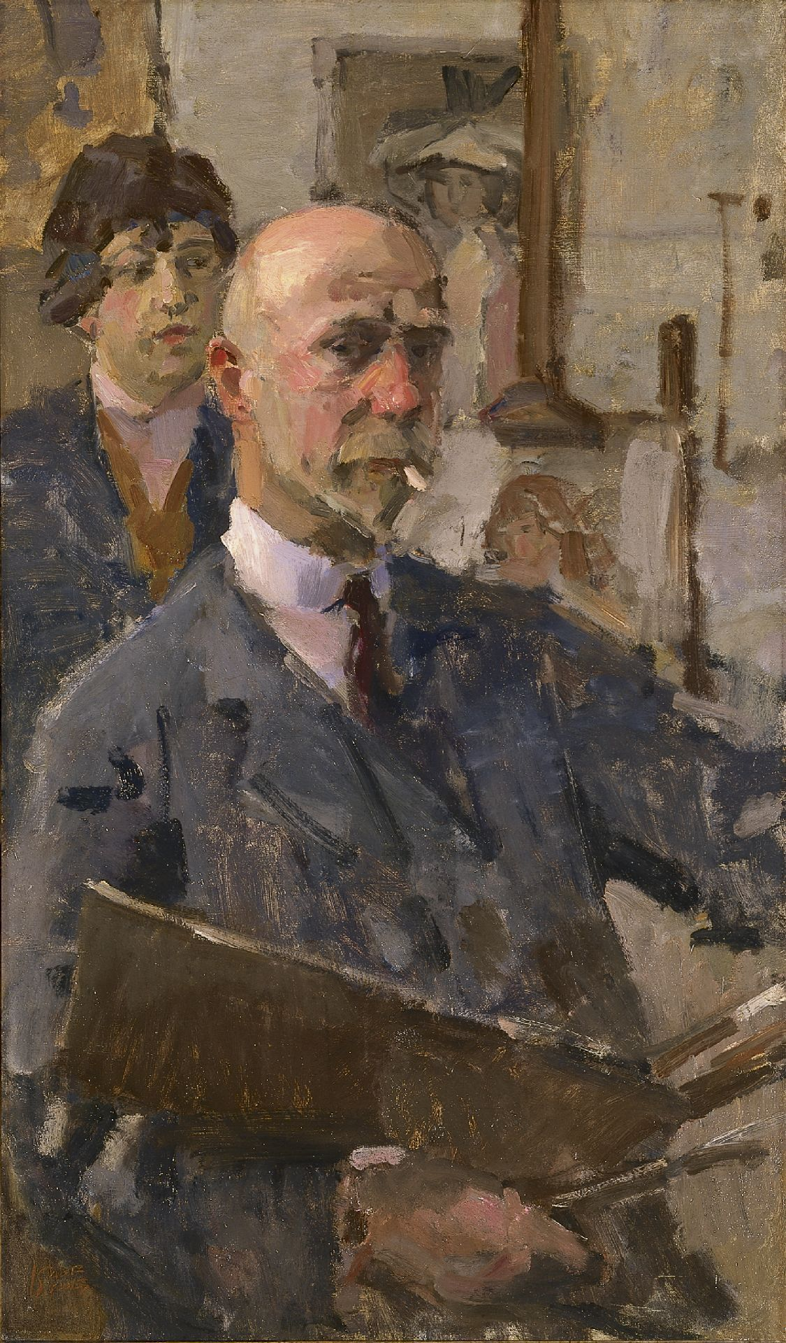 Portrait of artist, painter, watercolourist and draughtsman 'Isaac' Lazarus Israels