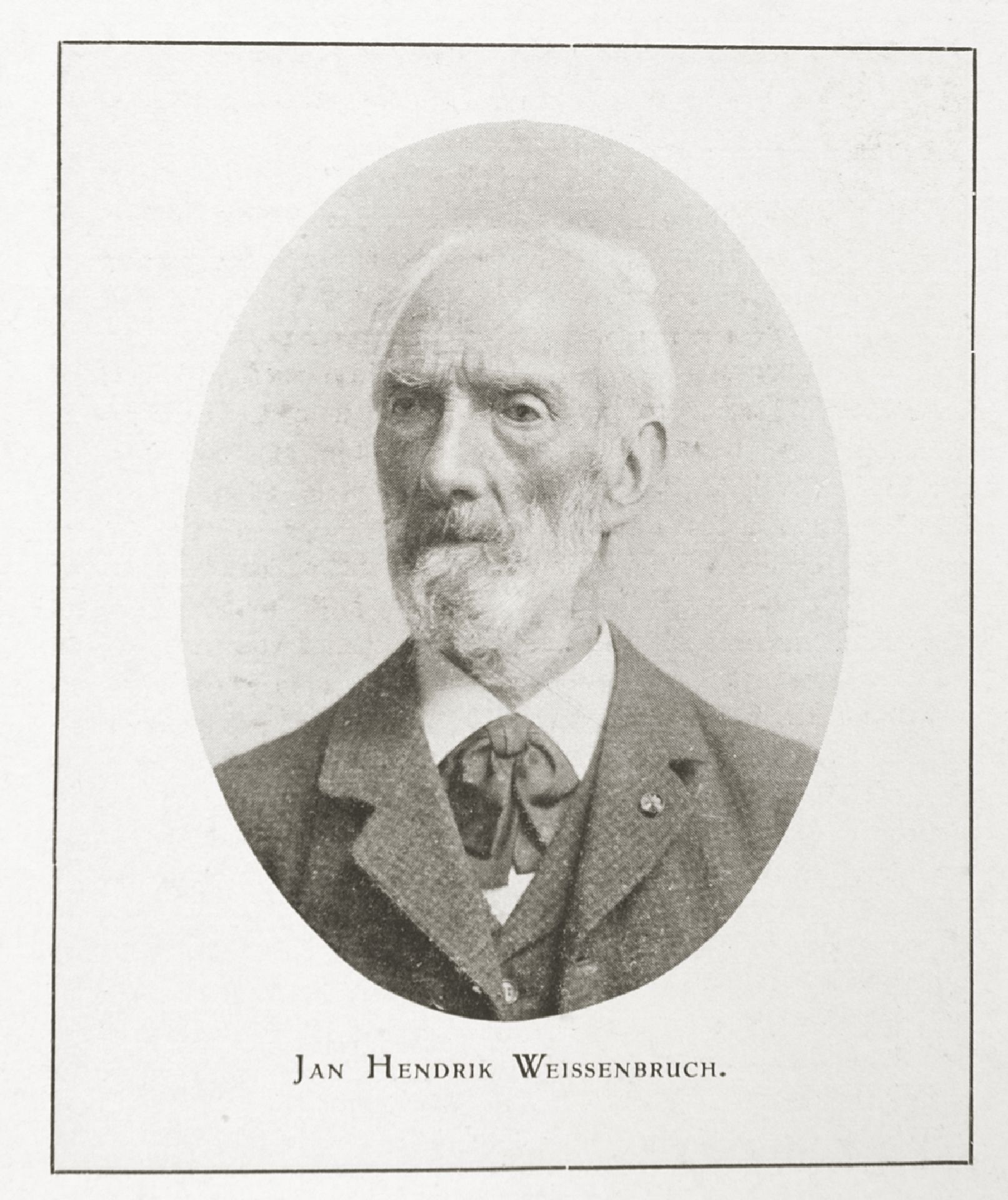 Portrait of artist, painter, watercolourist and draughtsman Hendrik Johannes 'J.H.' Weissenbruch
