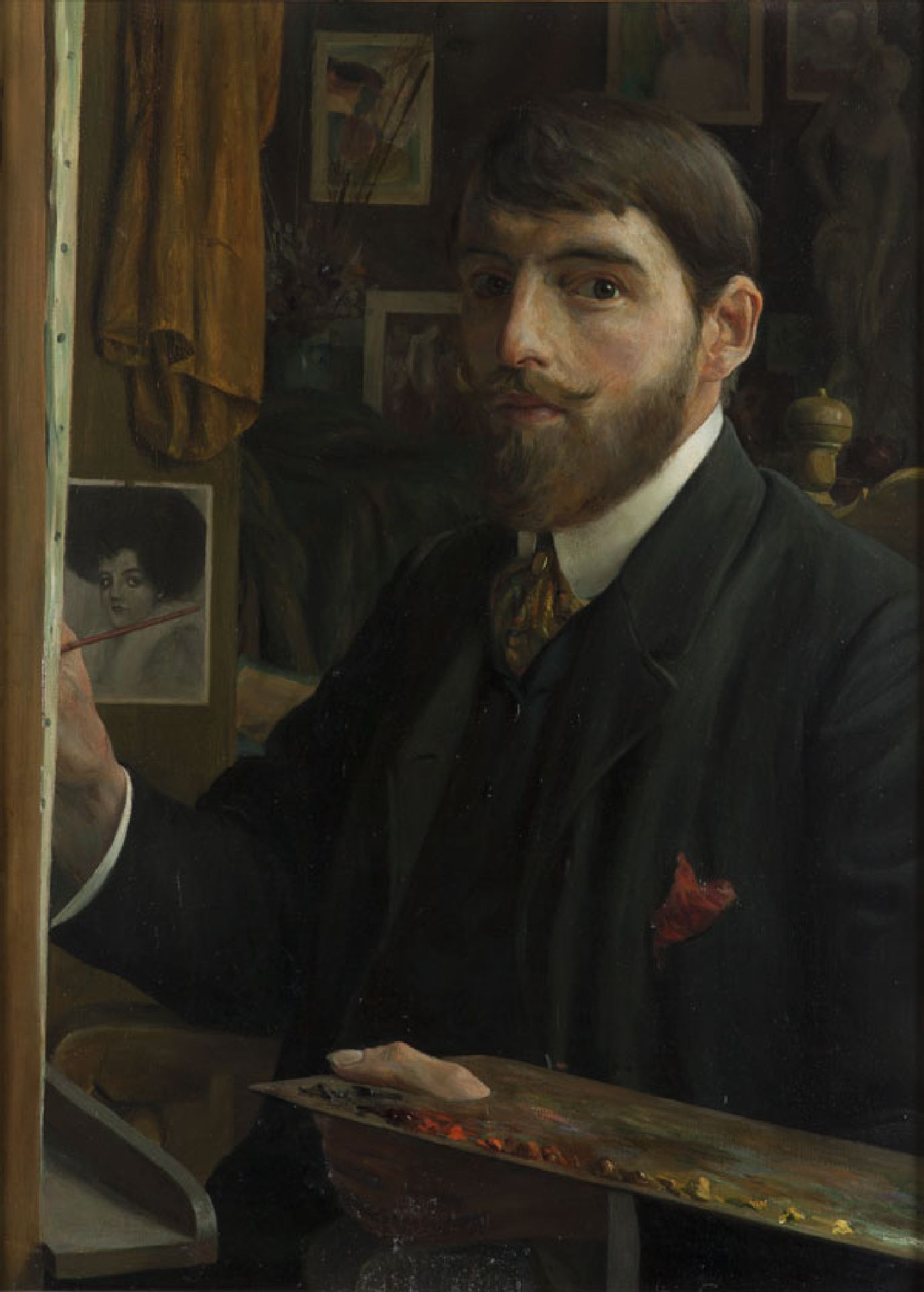 Portrait of artist, painter, watercolourist and draughtsman Leendert 'Leo' Gestel