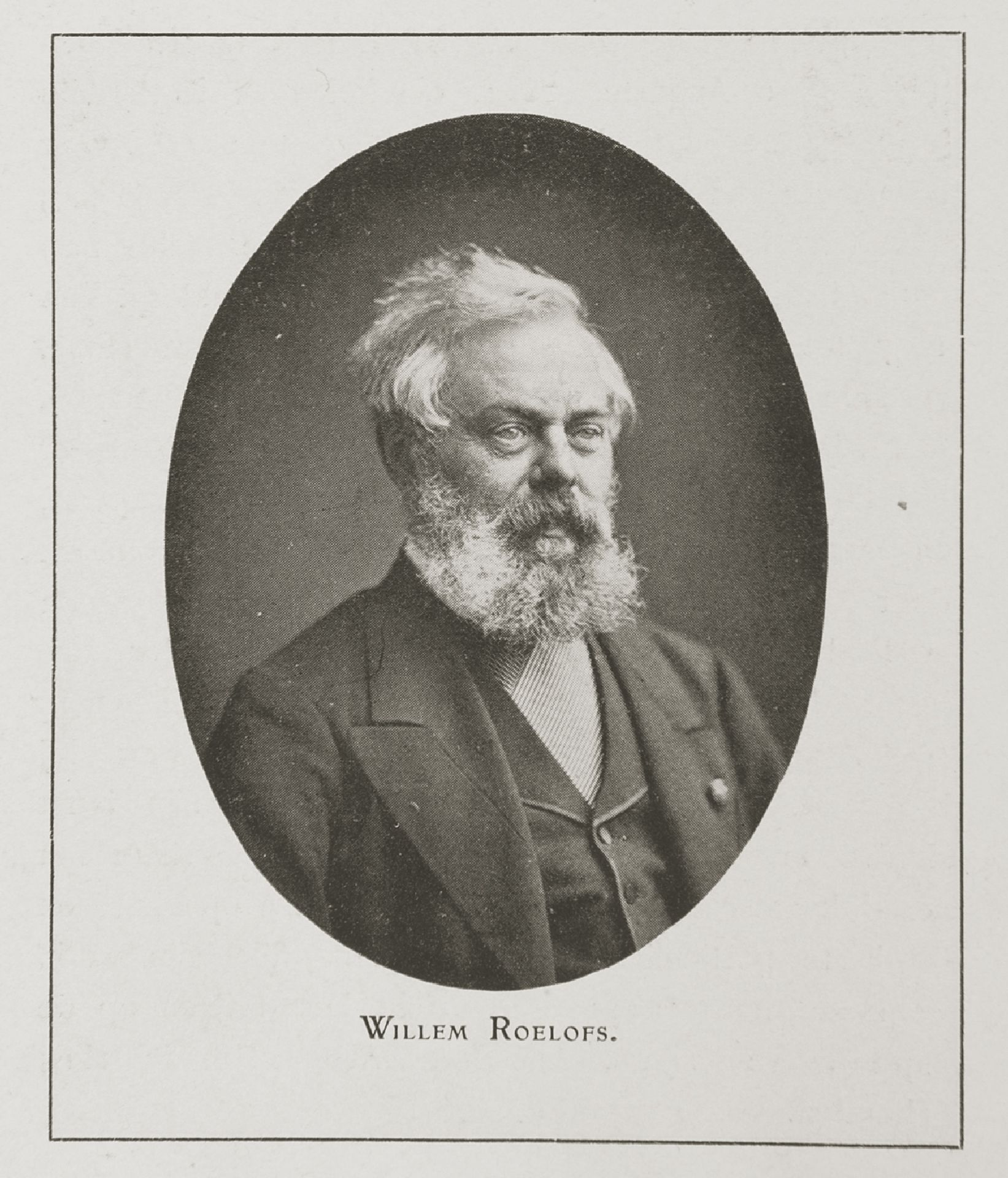 Portrait of artist, painter, watercolourist and draughtsman Willem Roelofs