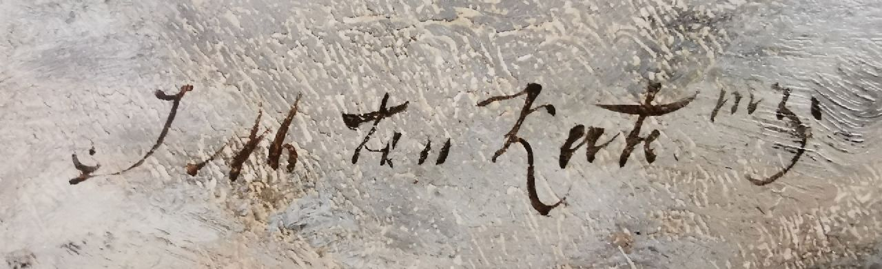 Johannes Marius ten Kate signatures Before the boat ride