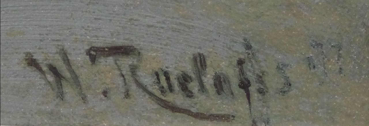 Willem Roelofs signatures The river Gein near the Velderslaan, Abcoude